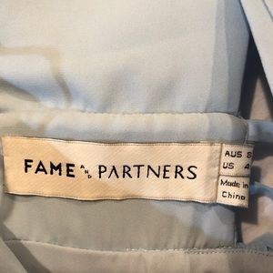 Fame and Partners Dresses - Fame and Partners deep V front and back dress